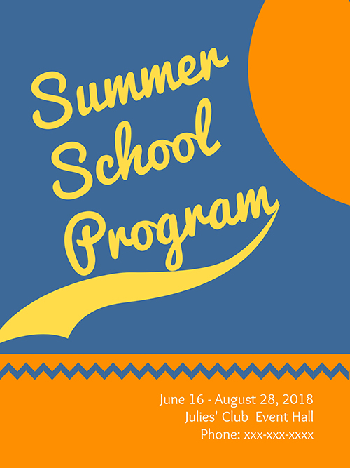 Summer School Program Poster Template