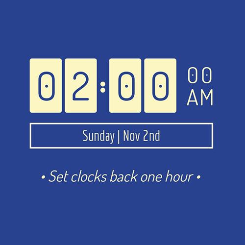 Set Clocks Back Blog Graphic Medium Template