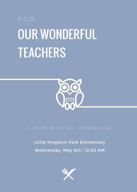 Teacher Appreciation Luncheon - Invitation Template