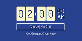 Set Clocks Back Twitter Post Template