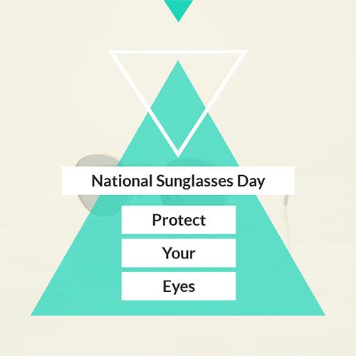 National Sunglasses Day Blog Graphic Medium Template