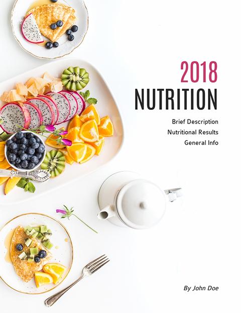 Ebook Template – Nutrition Template