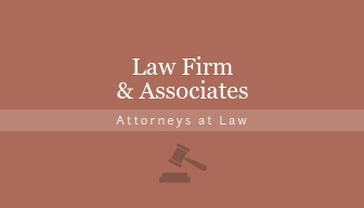 Law Firm - Business Card Template
