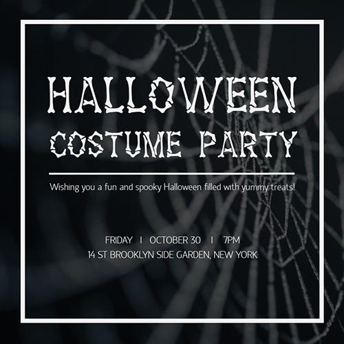 Spooky Halloween Blog Graphic Medium Template