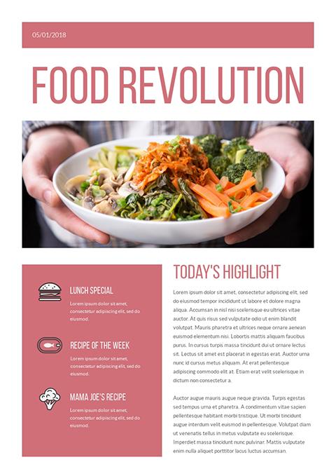 Food Revolution - Newsletter Template