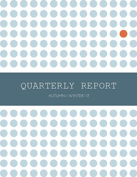 Quarterly Report Template - Autumn Winter Template