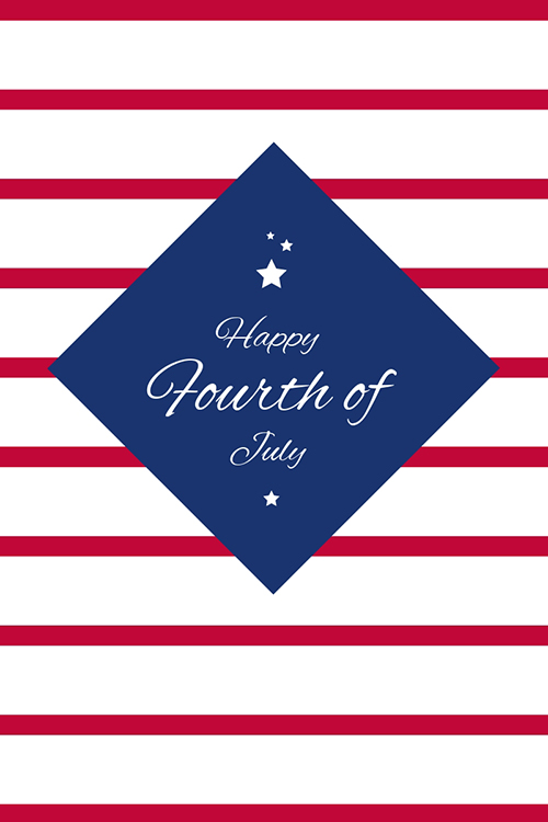 Happy Fourth of July Blog Graphic Large Template