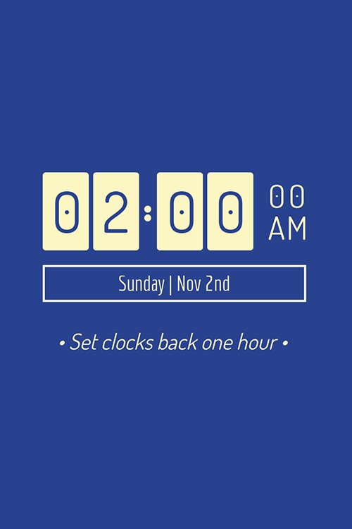 Set Clocks Back Blog Graphic Large Template