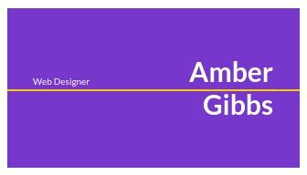 Web Designer - Business Card Template