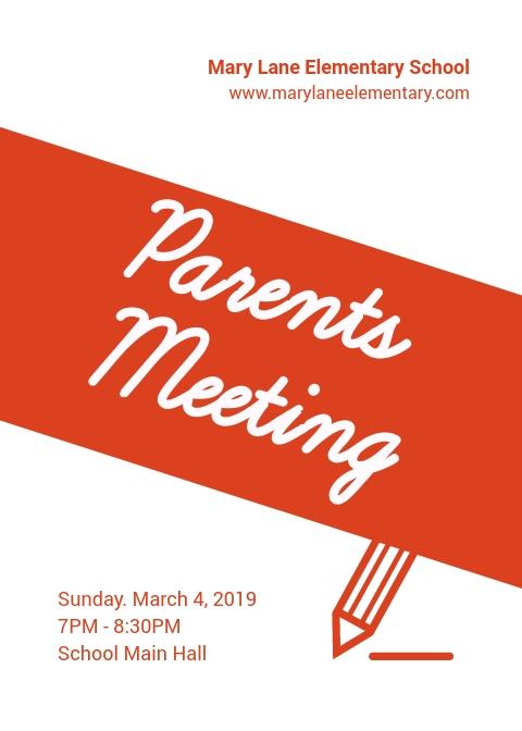 Parents Meeting - Flyer Template