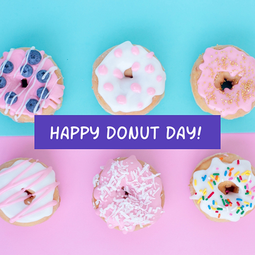 Happy Doughnut Day Blog Graphic Medium Template