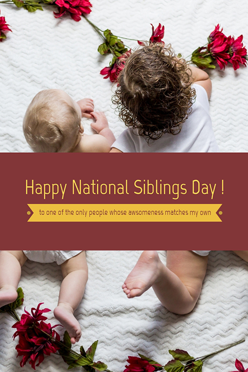 National Siblings Day Blog Graphic Large Template