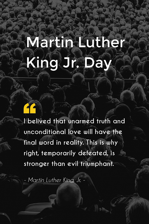 Martin Luther King Jr Day Blog Graphic Large Template