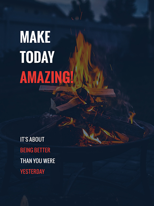 Make Today Amazing Template