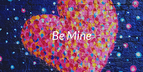 Be Mine Twitter Post Template