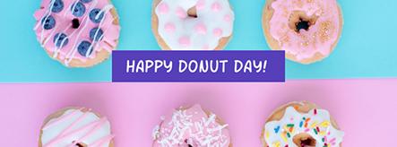 Happy Doughnut Day Facebook Cover Template