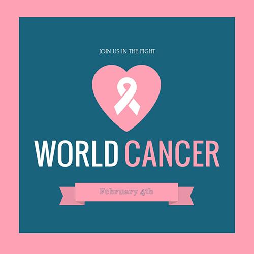 Pink Ribbon Breast Cancer Awareness Blog Graphic Medium Template