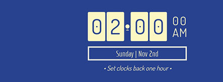 Set Clocks Back Facebook Cover Template
