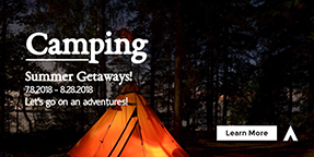 Camping Twitter Ad Template