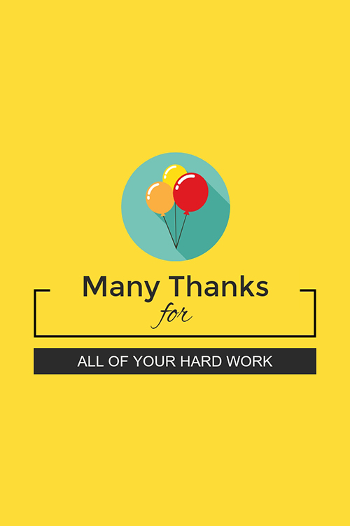 Many Thanks Blog Graphic Large Template