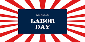 Let's Celebrate Labor Day Twitter Post Template