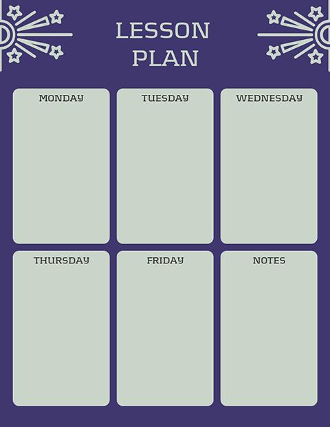 Purple Green - Lesson Plan Template