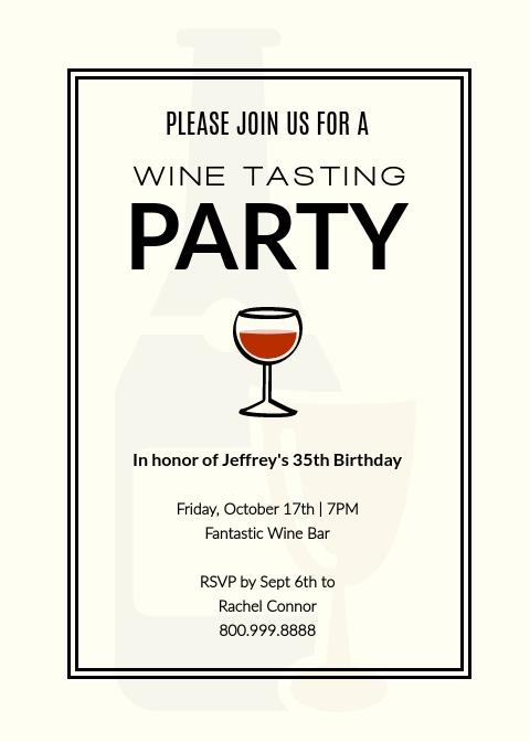 Wine Tasting Party - Invitation Template