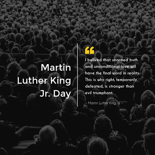 Martin Luther King Jr Day Blog Graphic Medium Template
