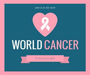 Pink Ribbon Breast Cancer Awareness Facebook Post Template