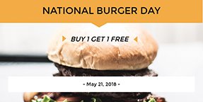 National Burger Day Twitter Post Template