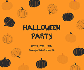 Halloween Party - Facebook Post Template