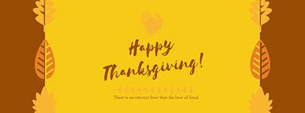 Happy Thanksgiving Facebook Cover Template Visme