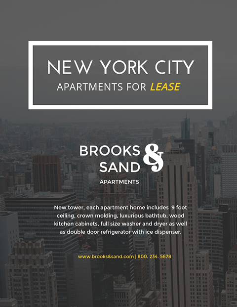 NYC Apartments - Flyer Template