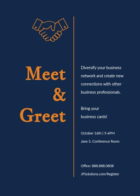 Meet and Greet - Invitation Template | Visme