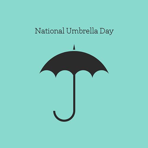 National Umbrella Day Blog Graphic Medium Template