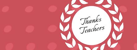 Thanks Teachers Facebook Cover Template