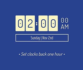 Set Clocks Back Facebook Post Template