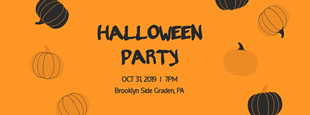 Halloween Party Facebook Cover Template