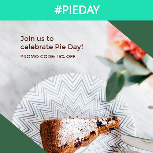 Pie Day Blog Graphic Medium Template