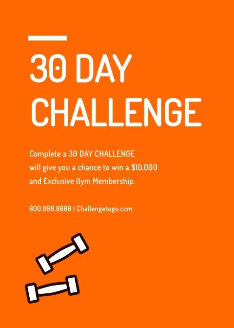 Gym Challenge - Invitation Template
