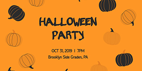 Halloween Party Twitter Post Template
