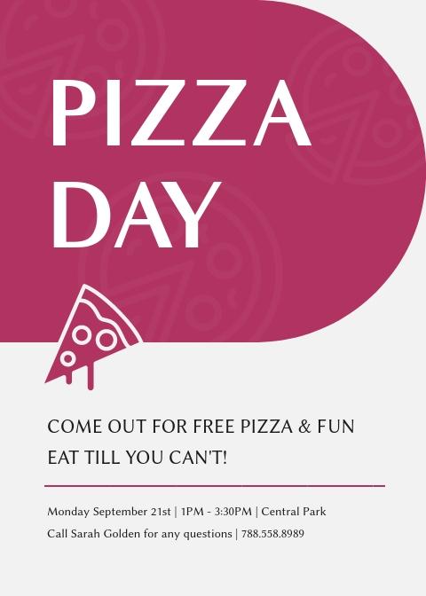Pizza Day - Invitation Template