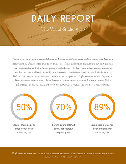 Daily Report Template Template
