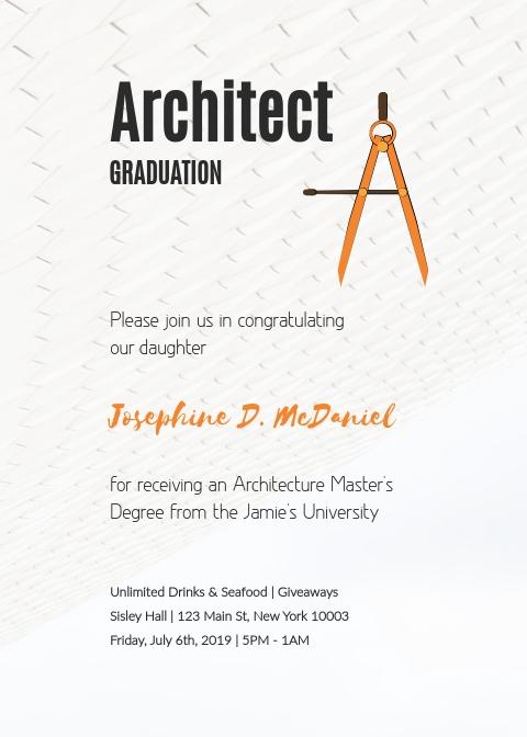 Architect Graduation - Invitation Template