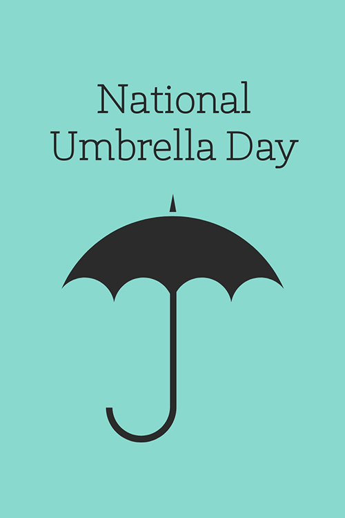 National Umbrella Day Blog Graphic Large Template