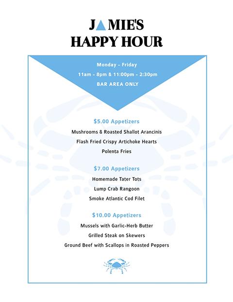Jamie's Happy Hour - Menu Template