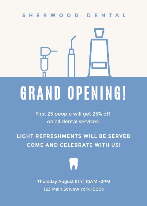 Sherwood Dental - Invitation Template