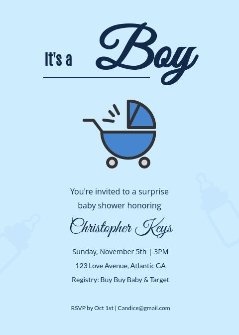 Baby Shower Invitation Template Visme