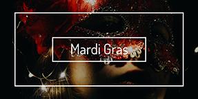 Mardi Gras Twitter Post Template