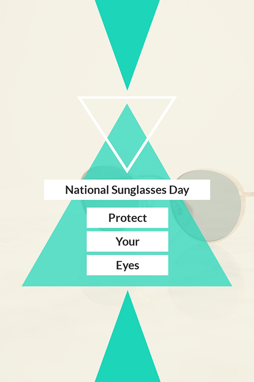 National Sunglasses Day Blog Graphic Large Template